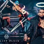 Chris Brown pose pour la nouvelle collection de Philipp Plein