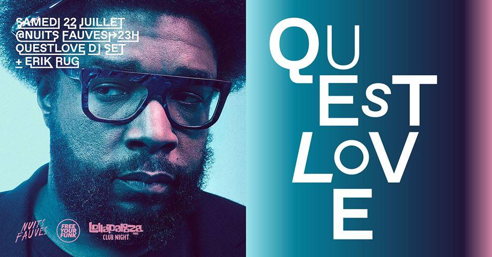 Gagnez vos places pour le showcase de Questlove aux Nuits Fauves
