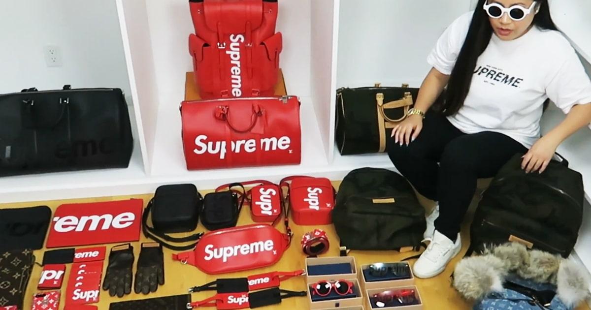 Supreme X Louis Vuitton, il s'agissait de la collaboration la plus attendue de l'année, cette fan réalise un unboxing d'une valeur de 70 000 dollars.