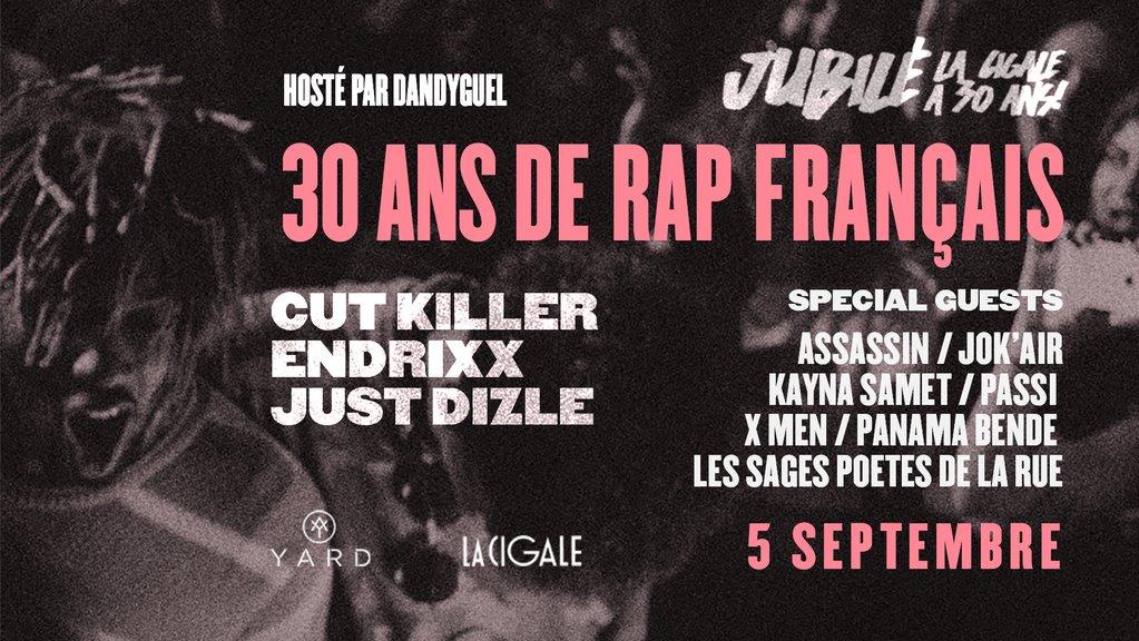 Gagnez vos places pour la soirée 30 ans de rap français de La Cigale à Paris