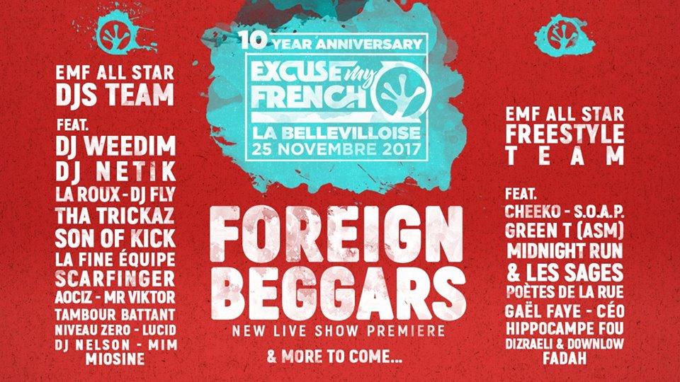 Excuse My French fête dix ans d'événements hip-hop avec une date exceptionnelle !