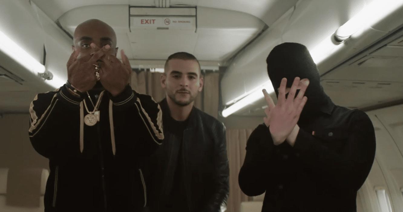 """Kaaris plane avec Sofiane et Kalash Criminel dans le clip de""""Bling-Bling"""""""