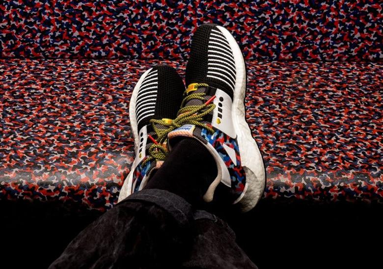 En collaboration avec l'entreprise de transport Berlinoise, Adidas a dévoilé un modèle EQT Support 93 aux couleurs du métro.