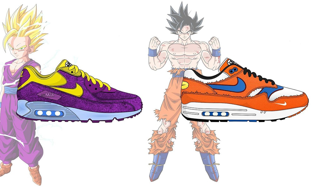Quand un artiste imagine une collaboration entre Nike et DBZ