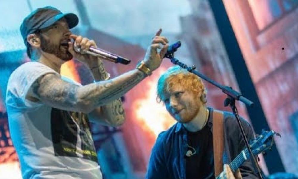 """Vidéo : Ed Sheeran rejoint 'Eminem sur scène pour un """"River"""" bouillant"""