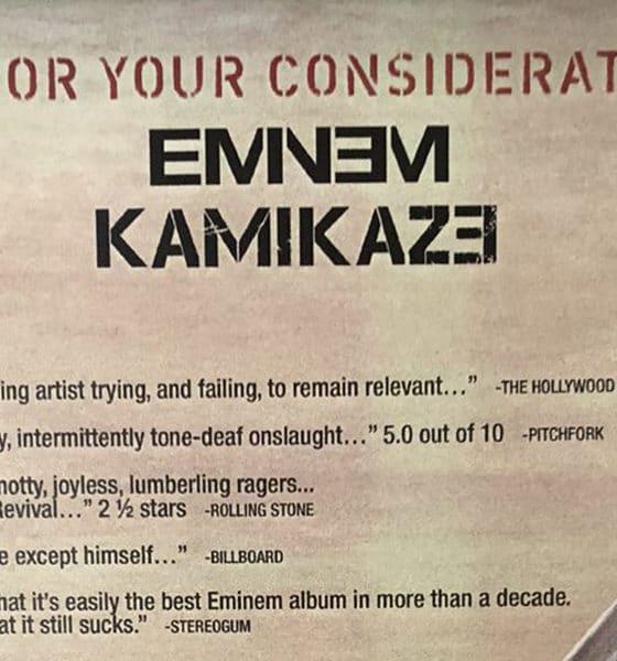 Eminem s'offre une publicité délirante pour répondre aux critiques de Kamikaze
