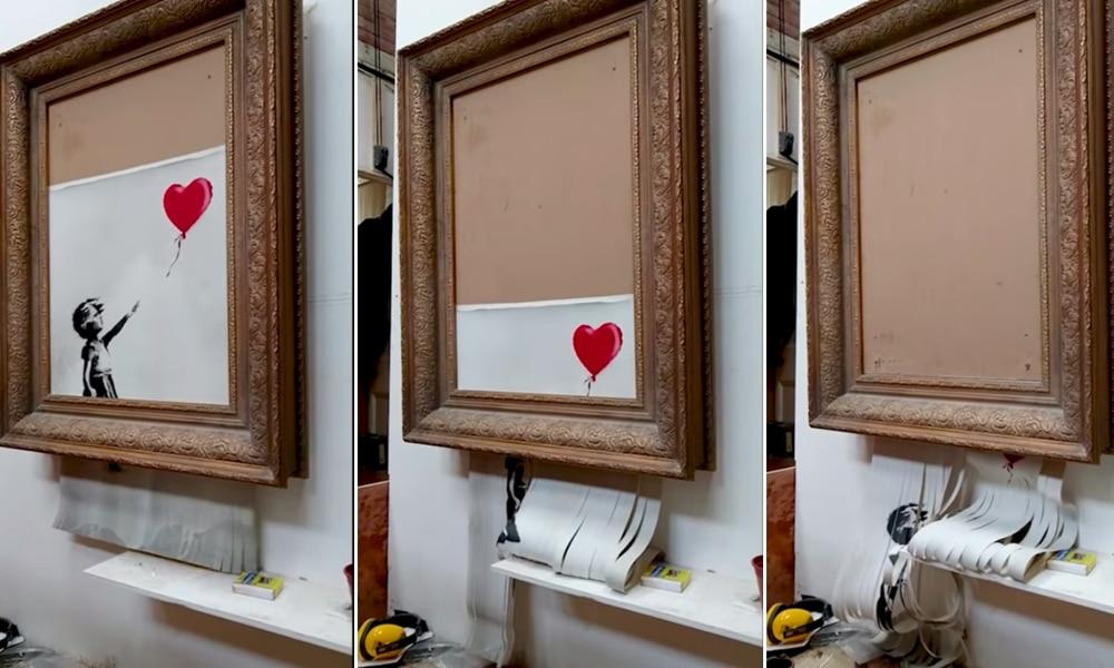 Banksy explique comment il a déclenché la destruction de son oeuvre à distance