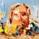Les pochettes d'albums de rap reproduites par une peintre française