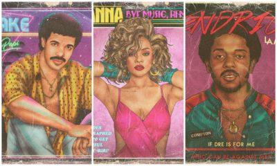 Drake, Rihanna, Kendrick Lamar... Un artiste les a imaginé célèbres dans les années 80