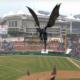 La Corée du Sud ramène un dragon pour un match de baseball