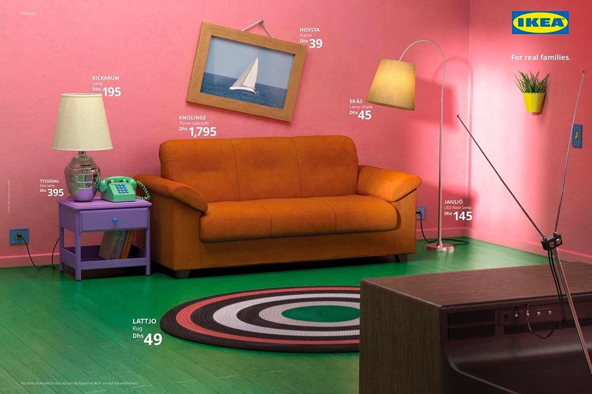 Ikea propose une gamme pour re-créer le salon des Simpsons ou Friends