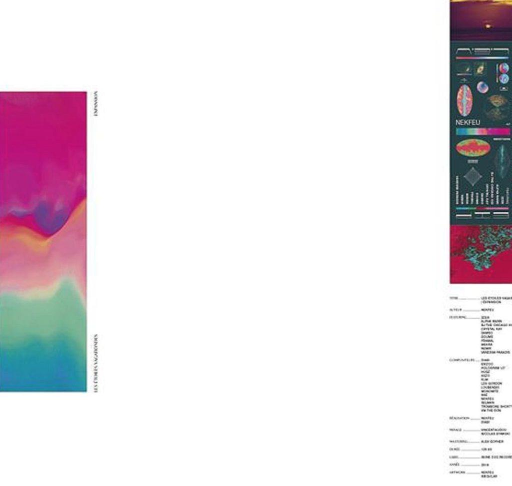 """Cover du vinyle """"Les étoiles vagabondes : expansion"""" de Nekfeu"""