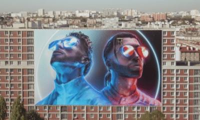 L'affiche de PNL, dernier vestige de la cité Gagarine, démolie depuis hier