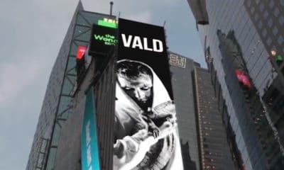 Après le Japon, Vald se paye un panneau publicitaire à New York
