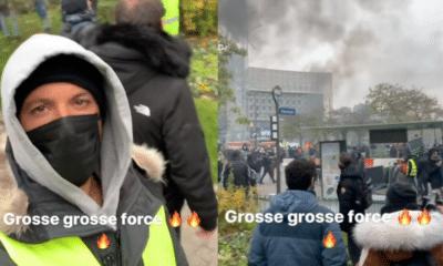 Nekfeu en gilet jaune : il manifeste dans les rues de Paris