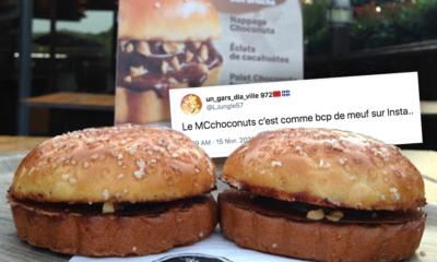 McChoconuts : le nouveau burger sucré de chez McDonald's ne fait pas l'unanimité