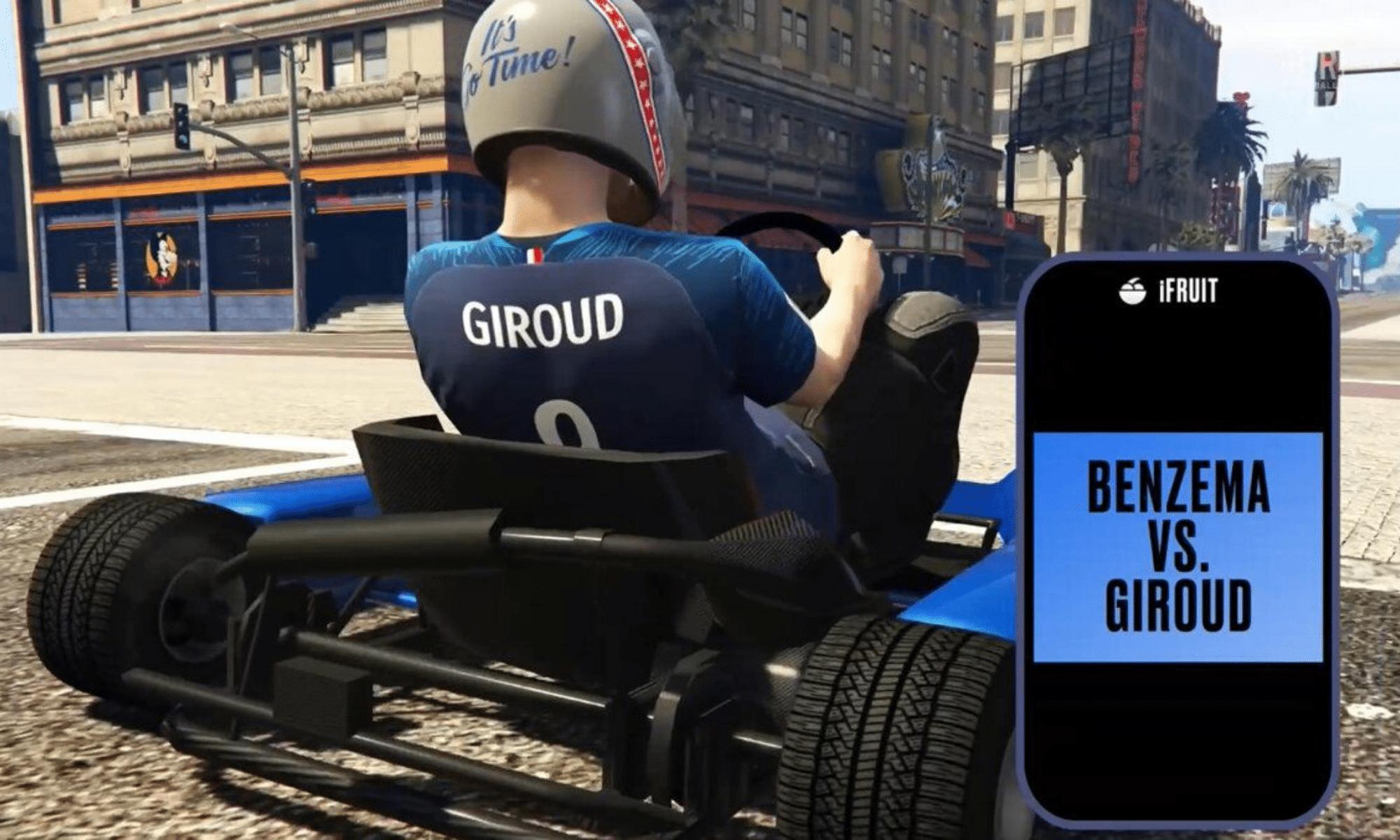 giroud benzema F1 karting