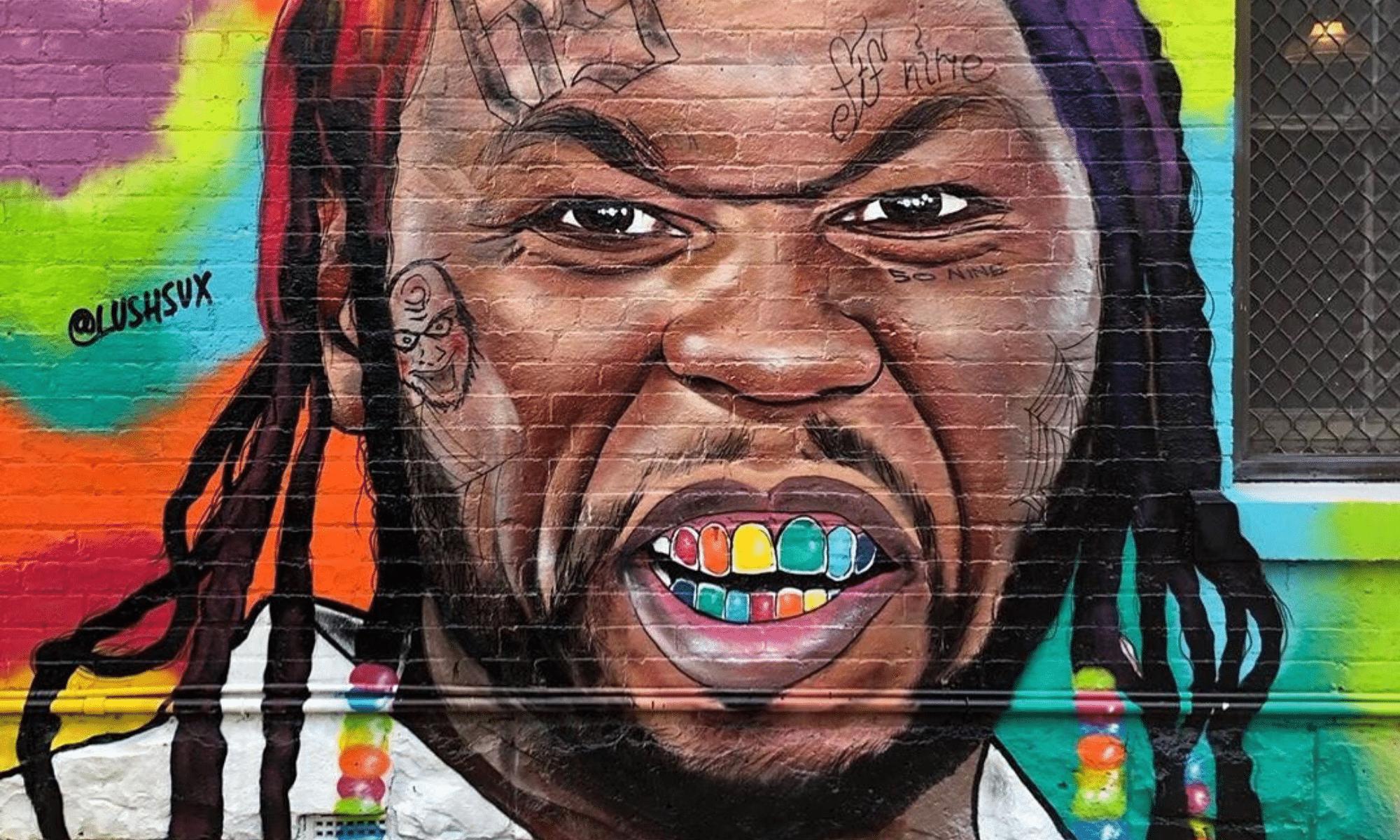 50 cent 6ix9ine graffiti