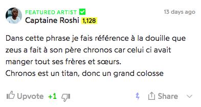 genius captaine roshi béni