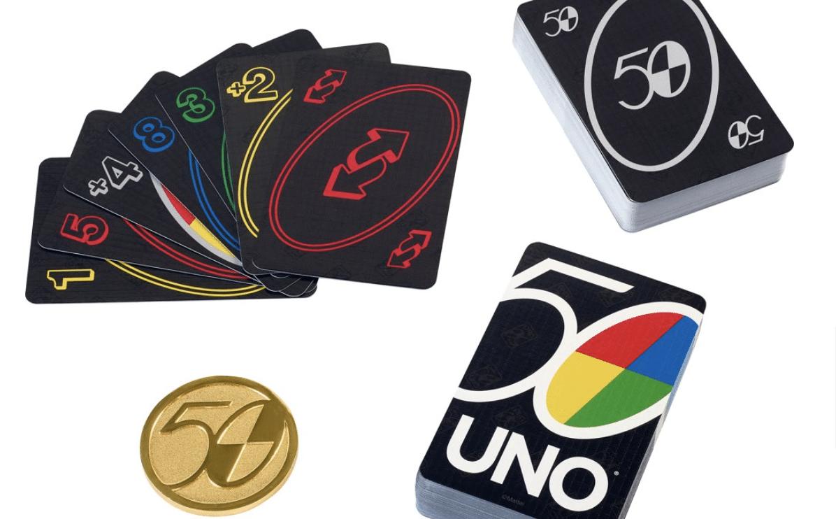 Pour fêter les 50 ans d'UNO, la compagnie de jeu Mattel a décidé de lancer des éditions collector et de compétition du jeu devenu une icône