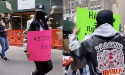 Rihanna manifeste dans les rues de New-York contre la haine anti-asiatique
